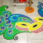 Top 50+ Latest Best Beautiful Easy Peacock Rangoli Design