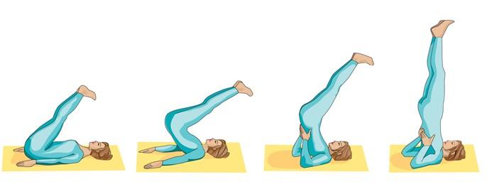 Shoulder Stand Pose(Sarvangasana)