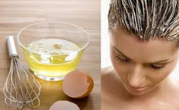 Egg mask for hairs