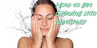 how to get glowing skin naturally at home
