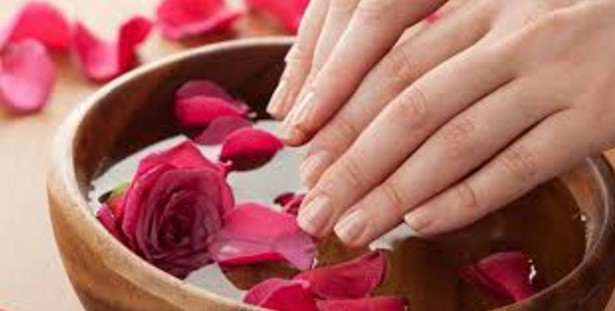 soaking and scrubbing your hands