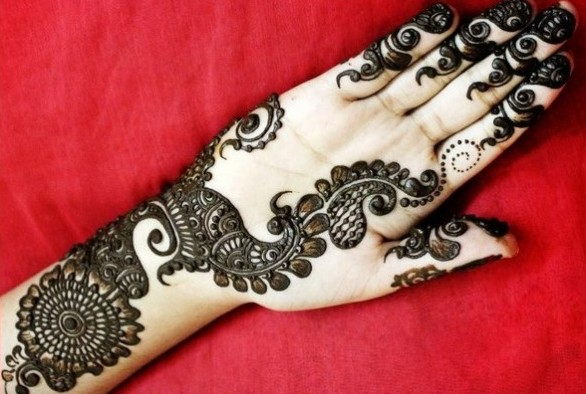 arabic wedding mehendi design