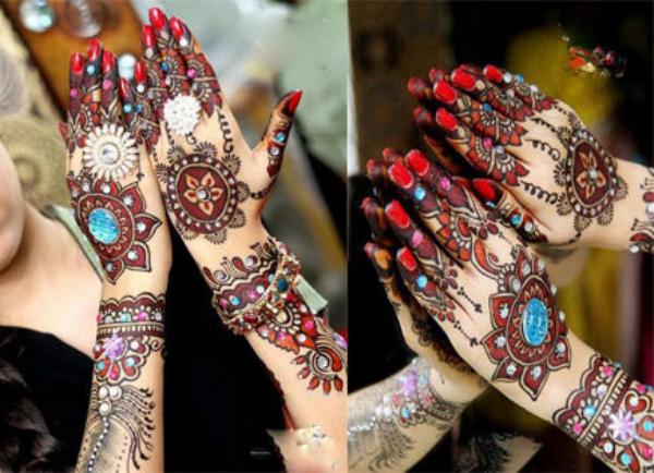 bridal heena designs