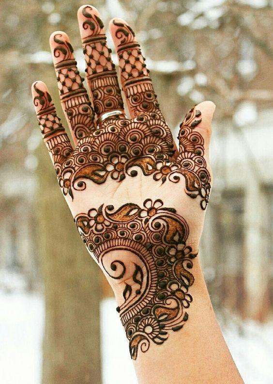 indian wedding arabic heena design