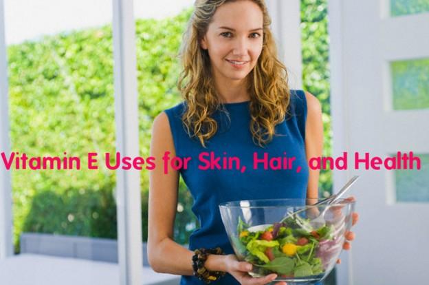 vitamin e for health skin hair