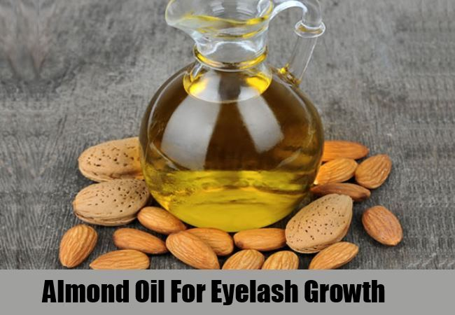 almond oil for growth of eye lashes