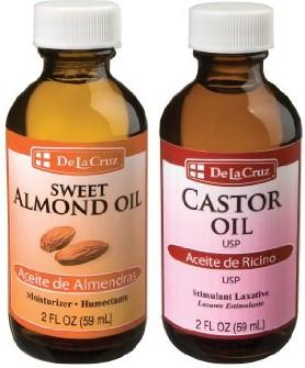 Castor oil and Almond oil