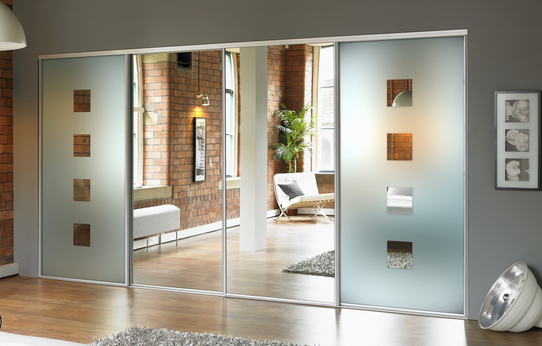 Mirror Door Design For Wardrobes of Bedrooms
