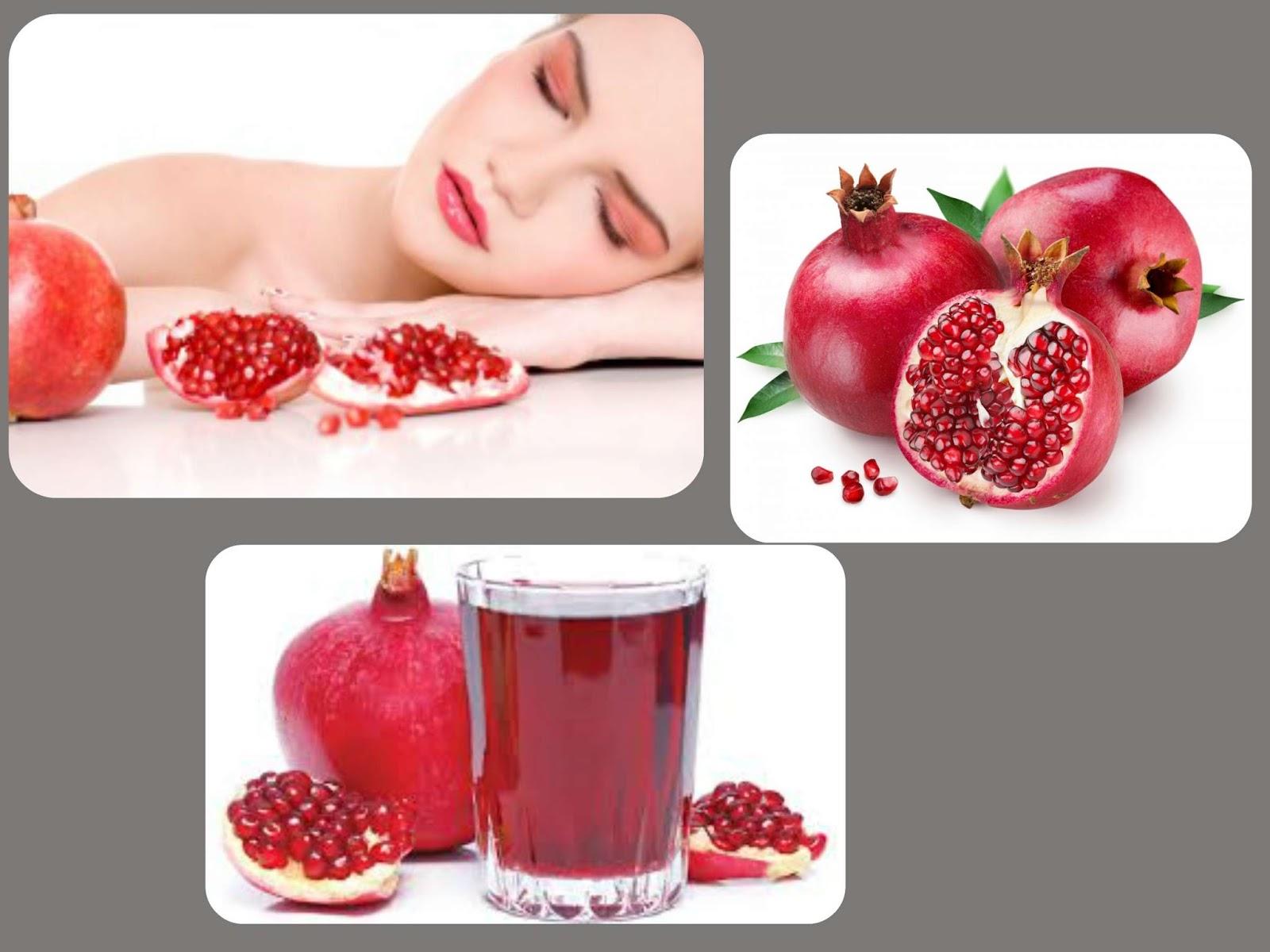 pomegranate juice benefits for skin