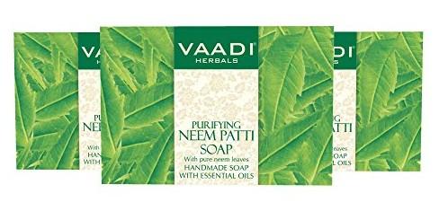 Vaadi Herbals Neem -Tulsi Soap With Vitamin E And Tea Tree Oil