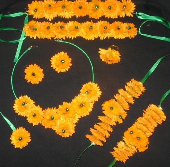 flower jewellery sets designs