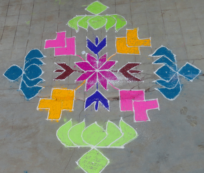 latest muggulu with dots designs