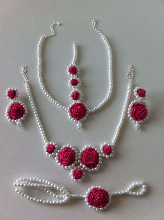 jewellery with real flowers