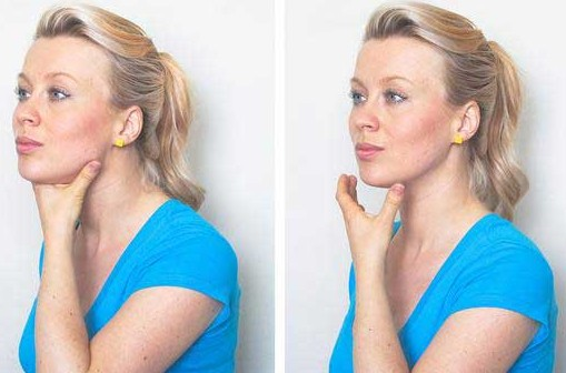 pigeon face Exercises To Get Rid Of Double Chin