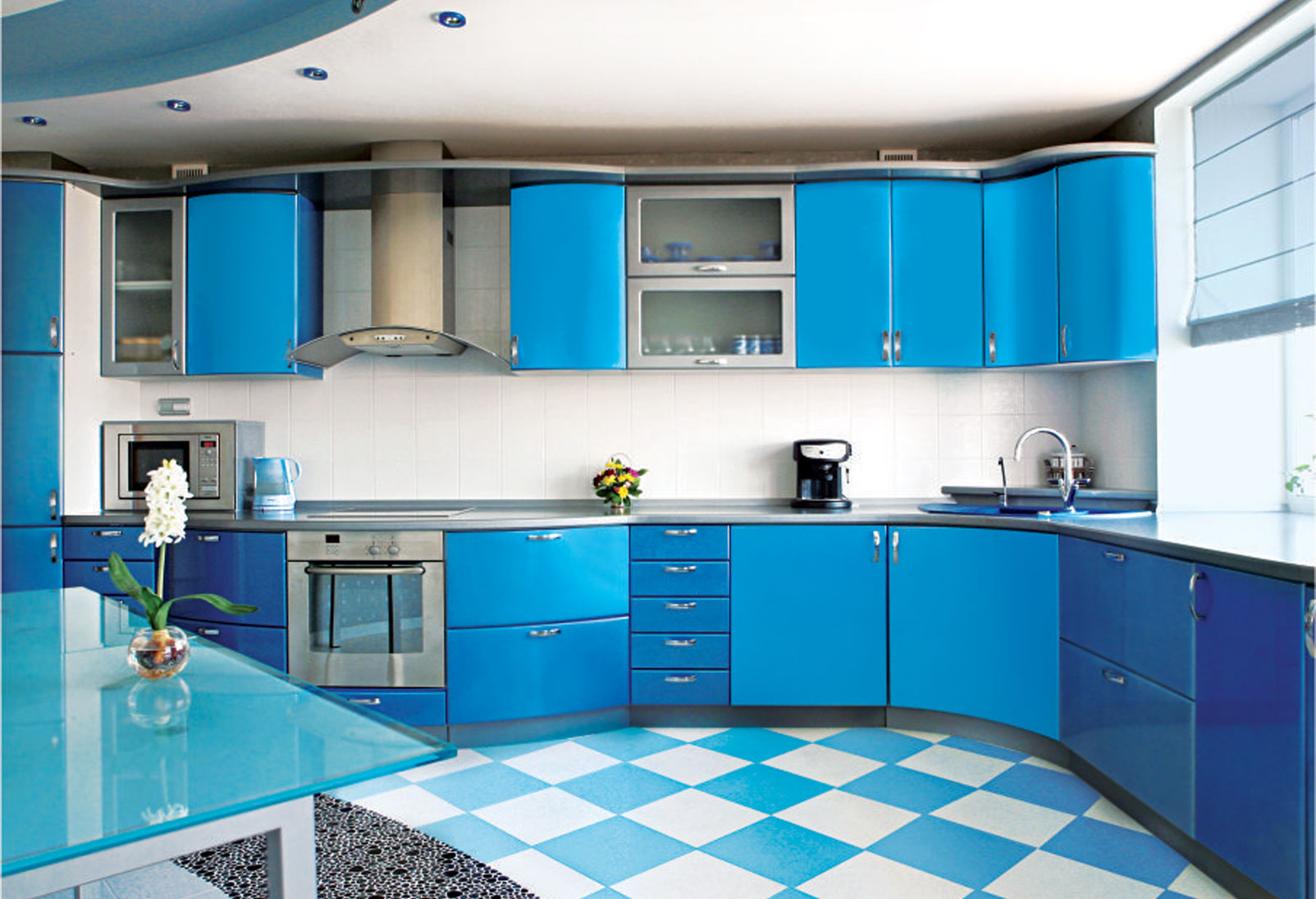 Blue And Black Kitchen Ideas