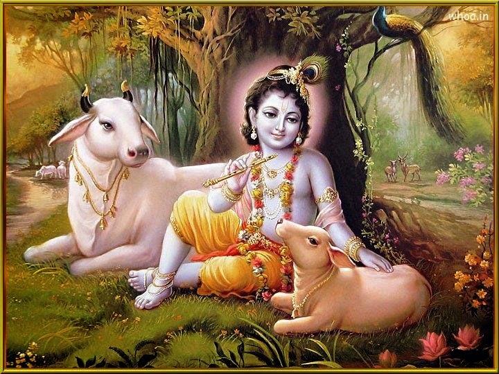 Love Filled Devotion Shri Radha Krishna Janmashtami HD Wallpapers