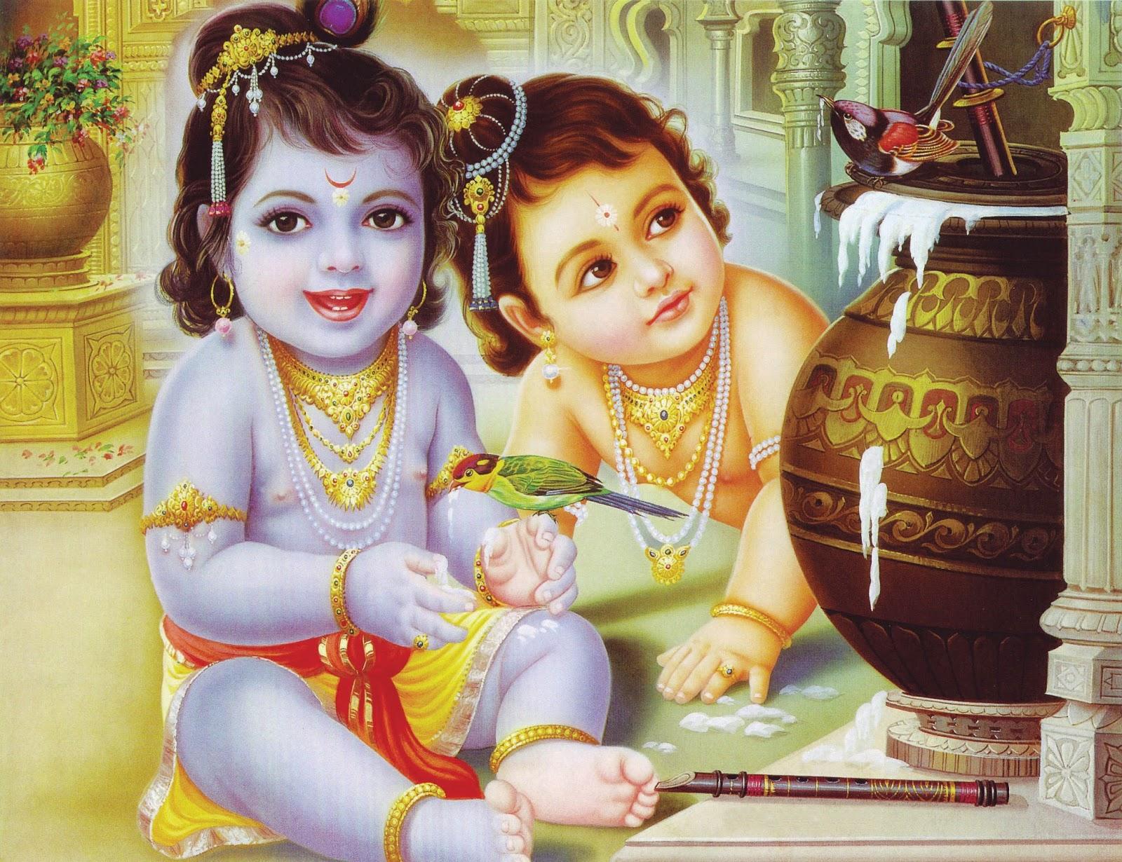 Super Cute Pics Of Bal Gopal Krishna