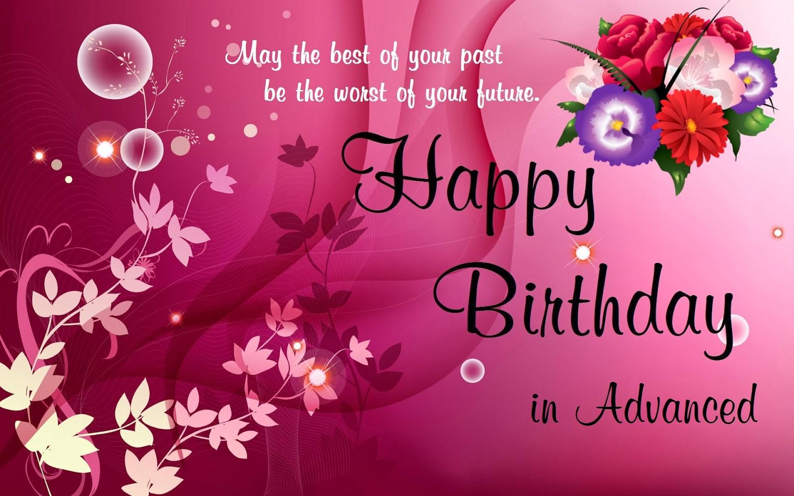 happy birthday wishes in advance