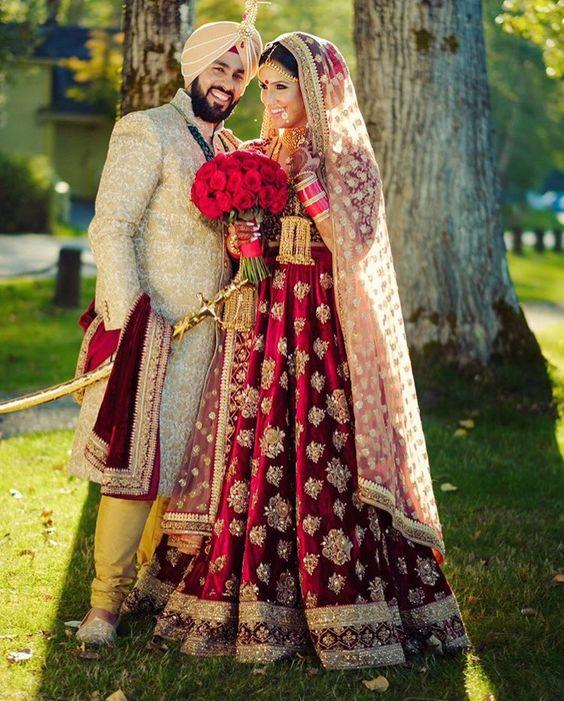 dulhan lehanga for punjabi bride