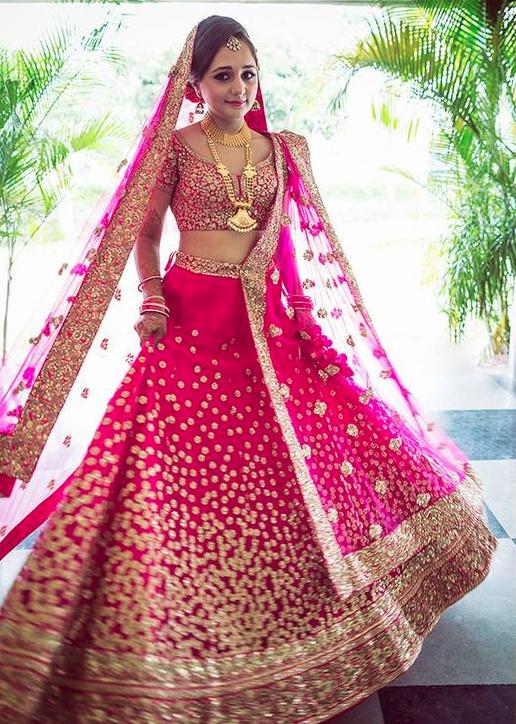 Romentic Bridal Lehenga Choli Designs photos