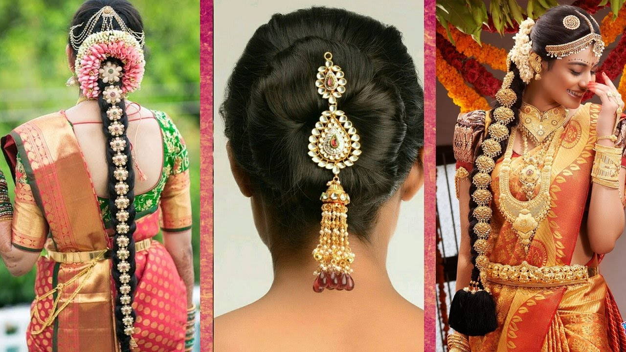 indian bridal hair style top 30 most beautiful indian wedding bridal hairstyles for 6138