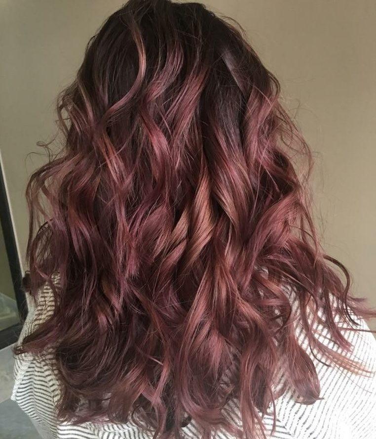 natural highlights for dark brown hair