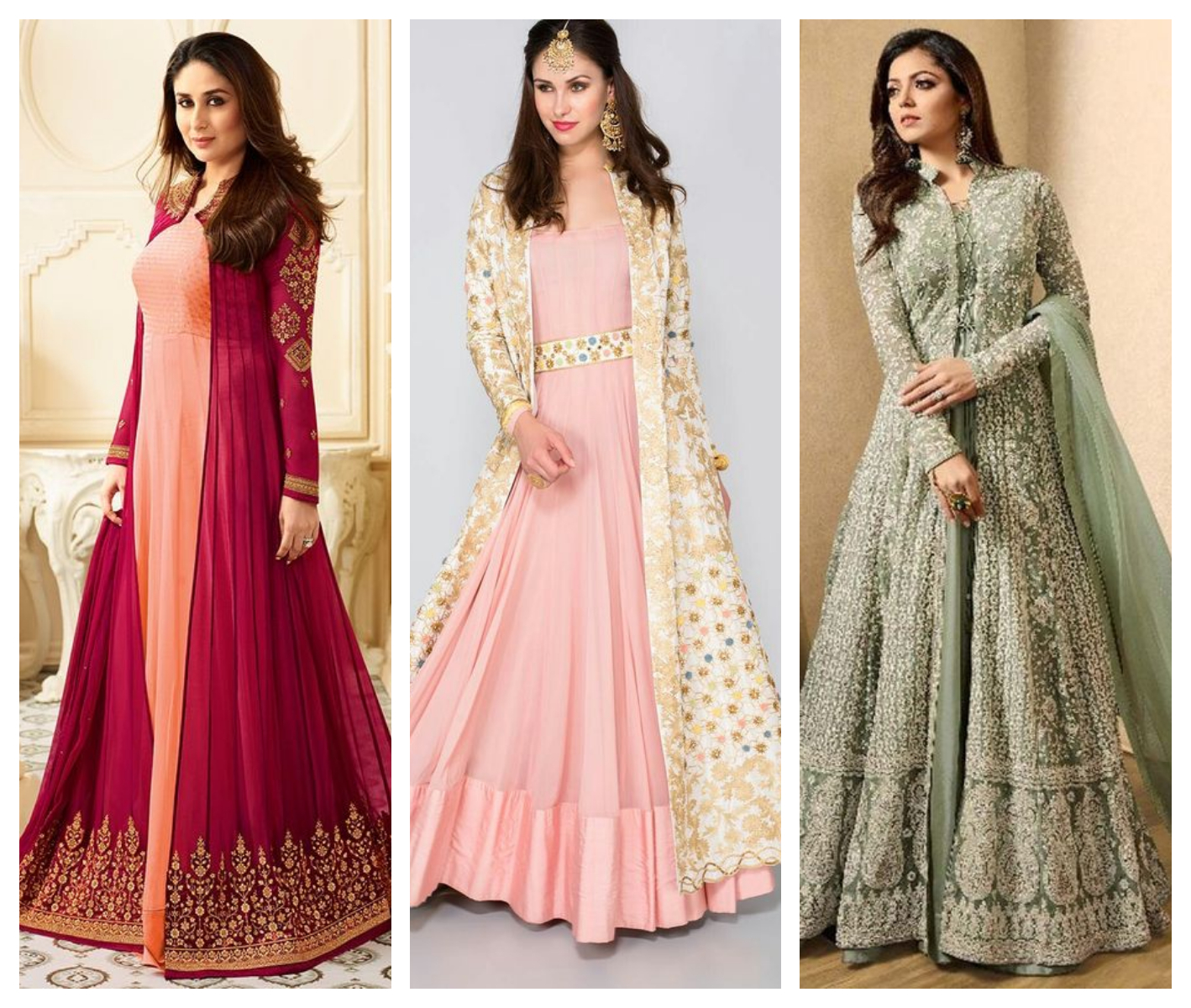Jacket Gown For Indian Wedding Online