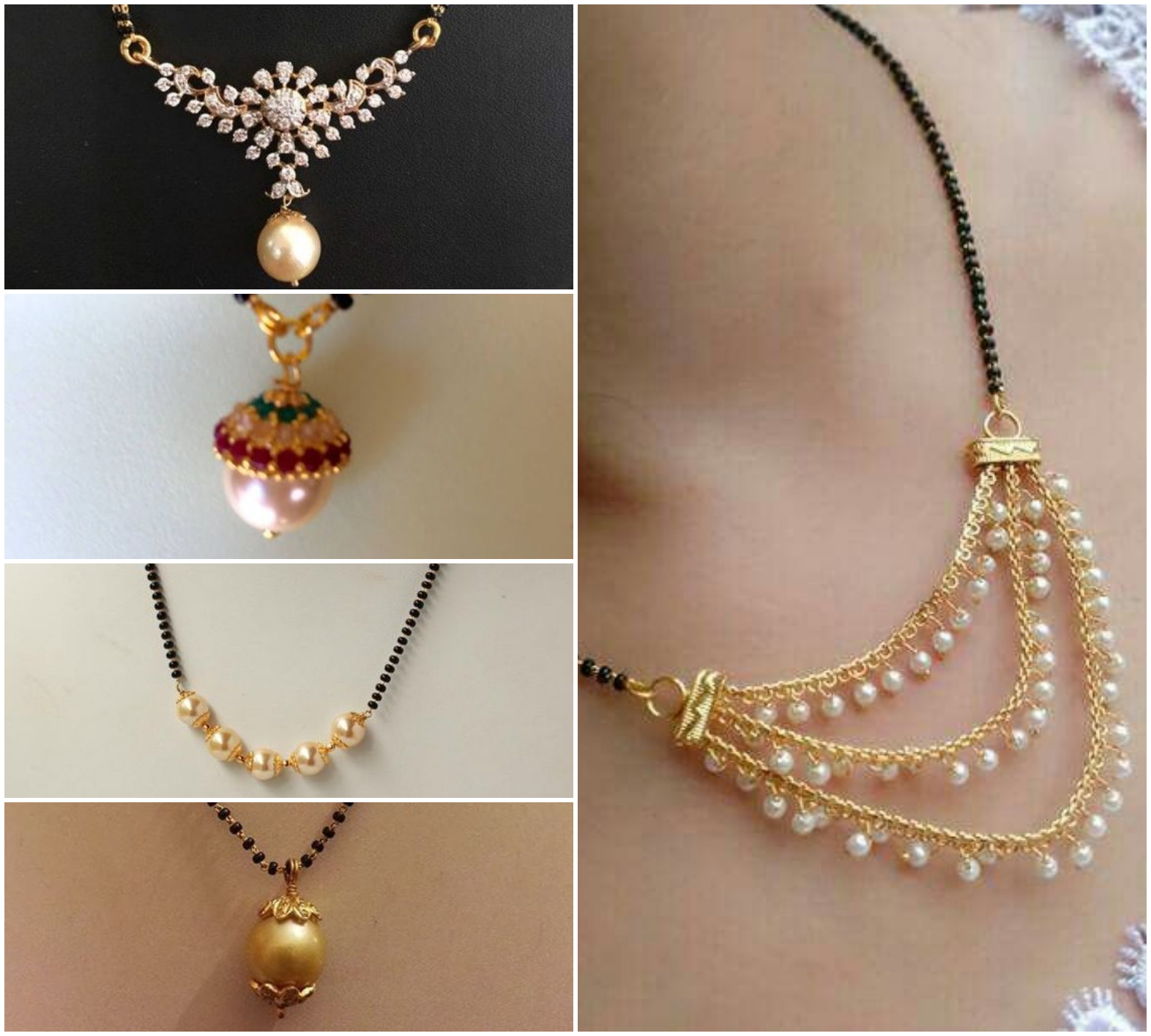 10 Latest Mangalsutra Designs in Gold